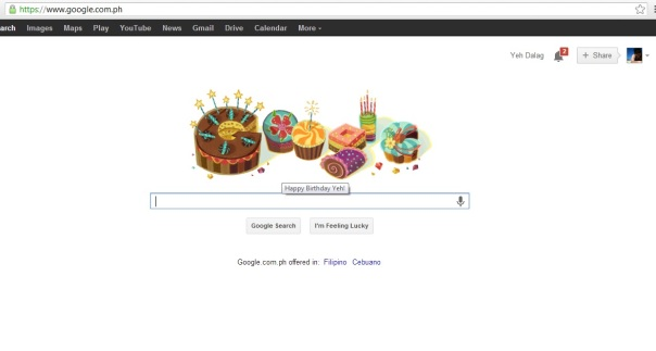 google personal greeting to yeh dalag